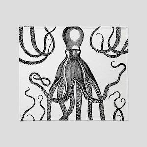 Antique Octopus Throw Blanket