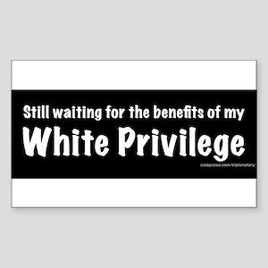 White Privilege Sticker (Rectangle)