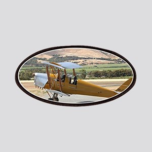 Tiger Moth aircraft taxiing Patch
