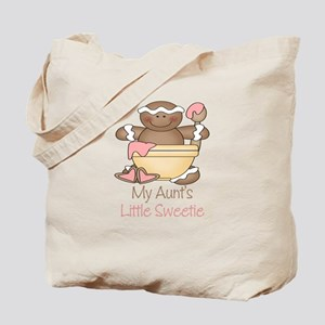 Aunt's Little Sweetie Christmas Tote Bag