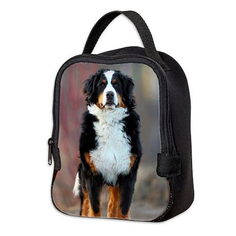 Bernese Mountain Dog2 Neoprene Lunch Bag
