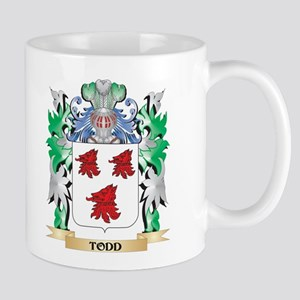 Todd Coat of Arms - Family Crest Mugs