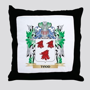 Todd Coat of Arms - Family Crest Throw Pillow