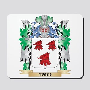 Todd Coat of Arms - Family Crest Mousepad