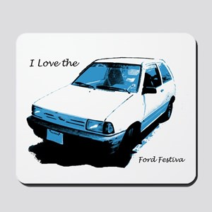 I Love The Ford Festiva Mousepad