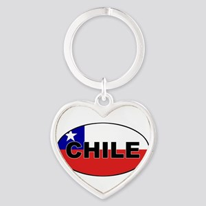 Chile-flag-oval Keychains