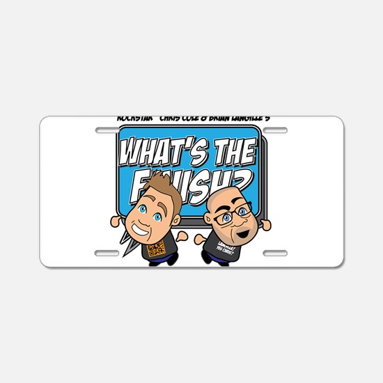 What's The Finish classic Aluminum License Plate