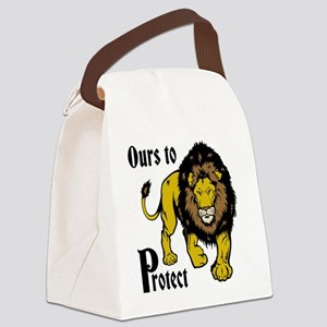 Protect Lions Canvas Lunch Bag