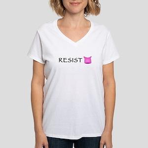 Pussyhat Resist Women's V-Neck T-Shirt
