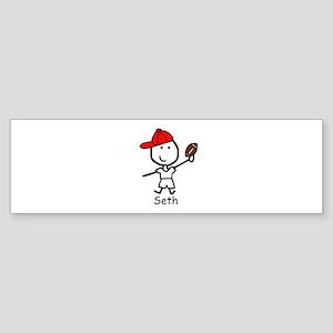 Football - Seth Bumper Sticker