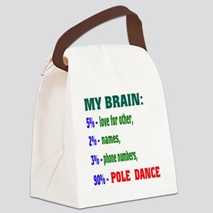 My brain, 90% Pole Dance Canvas Lunch Bag