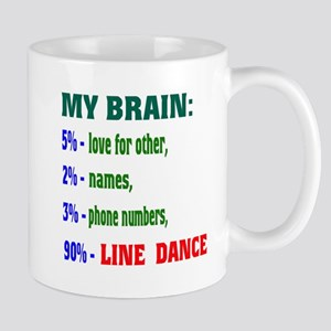 My brain, 90% Line dance Mug