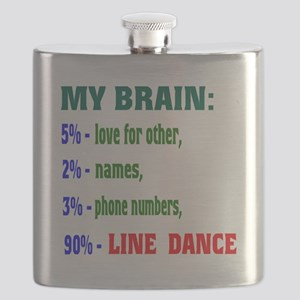 My brain, 90% Line dance Flask