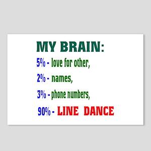 My brain, 90% Line dance Postcards (Package of 8)