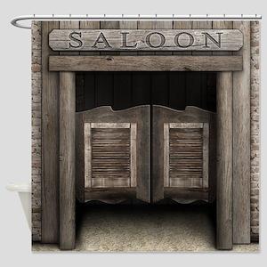 Wild West Cowboy Saloon Doors Shower Curtain