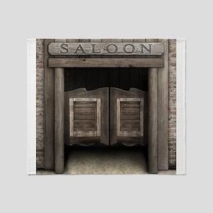 Wild West Cowboy Saloon Doors Throw Blanket