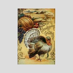 Golden Turkey Rectangle Magnet