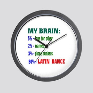 My brain, 90% Latin dance Wall Clock