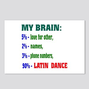 My brain, 90% Latin dance Postcards (Package of 8)