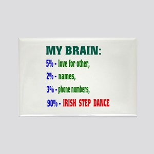 My brain, 90% Irish Step dance Rectangle Magnet