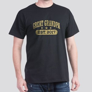 Great Grandpa Est. 2017 Dark T-Shirt