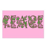 Floral Peace Postcards (Package of 8)