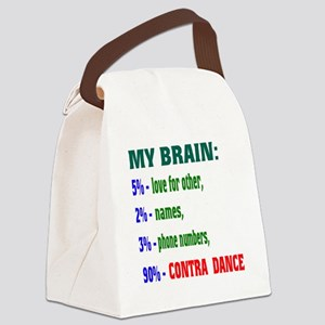 My brain, 90% Contra dance Canvas Lunch Bag