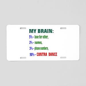 My brain, 90% Contra dance Aluminum License Plate