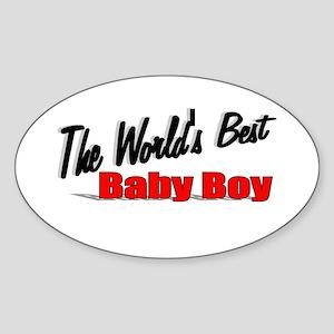"""The World's Best Baby Boy"" Oval Sticker"