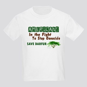 Americans In The Fight (Darfur) Kids Light T-Shirt