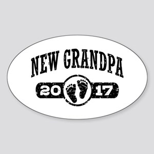 New Grandpa 2017 Sticker (Oval)