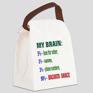 My brain, 90% Bachata dance Canvas Lunch Bag