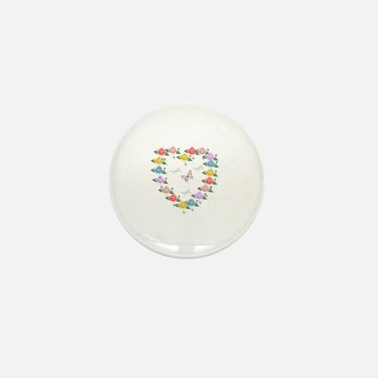 Cool Heart shaped Mini Button