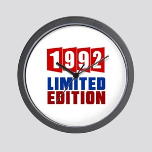 1992 Limited Edition Birthday Wall Clock