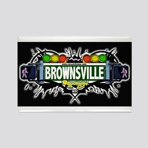 Brownsville (Black) Rectangle Magnet