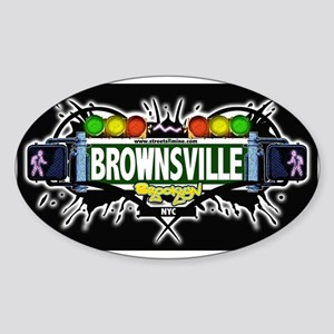 Brownsville (Black) Oval Sticker