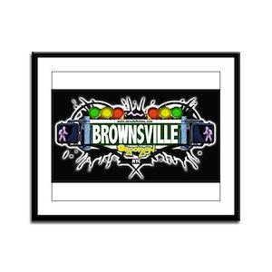 Brownsville (Black) Framed Panel Print