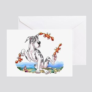 Great Dane Harle Crabby Greeting Card