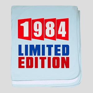 1984 Limited Edition Birthday baby blanket