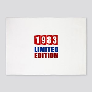 1983 Limited Edition Birthday 5'x7'Area Rug