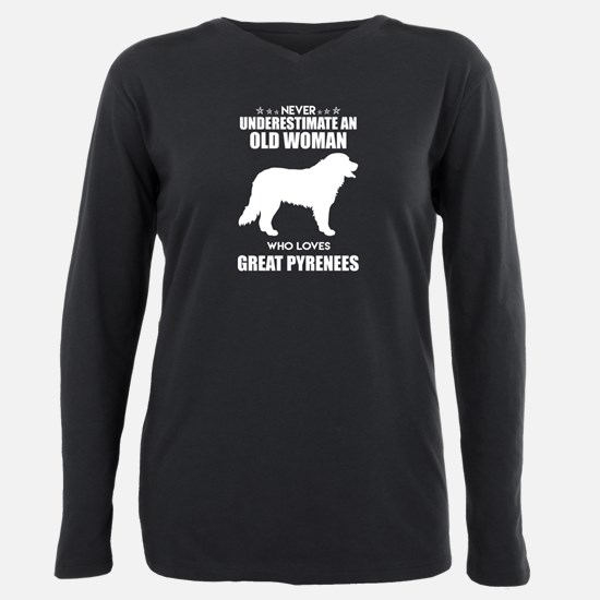 Never Underestimate Old Plus Size Long Sleeve Tee