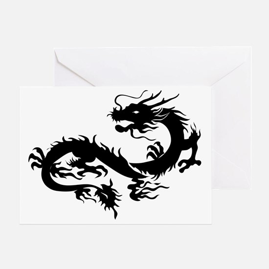 Funny Chinese dragon Greeting Card
