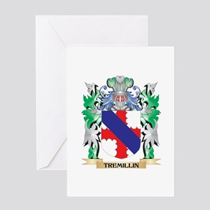 Tremillin Coat of Arms - Family Cre Greeting Cards