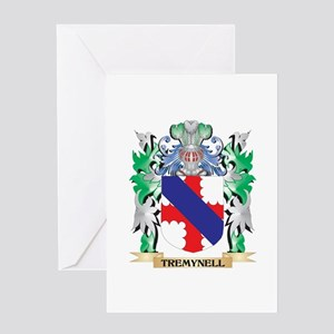 Tremynell Coat of Arms - Family Cre Greeting Cards