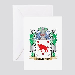 Treverton Coat of Arms - Family Cre Greeting Cards
