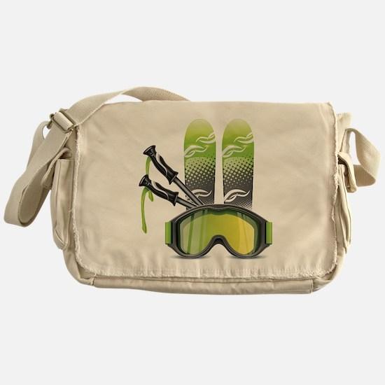 Cute Skis Messenger Bag