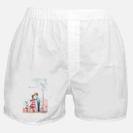 Unique Kissing couple Boxer Shorts