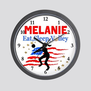 CUSTOM VOLLEYBALL Wall Clock