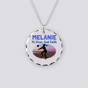 VOLLEYBALL STAR Necklace Circle Charm