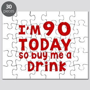 I am 90 today Puzzle